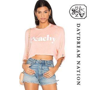 Daydream Nation Peachy Crop Tee NWT M
